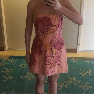 Dresses & Skirts - Hand painted strapless dress